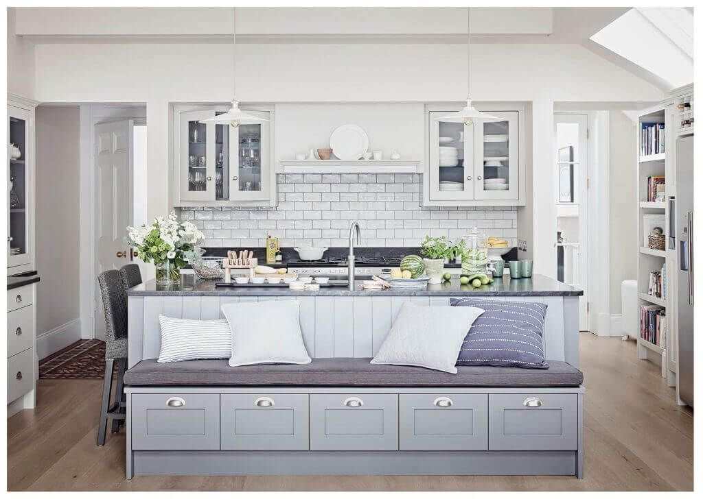 These Kitchen Islands With Bench Seating Beat Barstools In 2020 Kitchen Island With Bench Seating Kitchen Island With Seating Kitchen Style