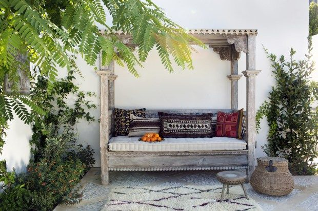 Designing For Outdoor Spaces Means Finding A Look You Love Not Just A Patio Set Daybed Canopy Canopy Outdoor Outdoor Daybed