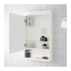 HEMNES Mirror cabinet with 1 door - white | Ikea bathroom ...