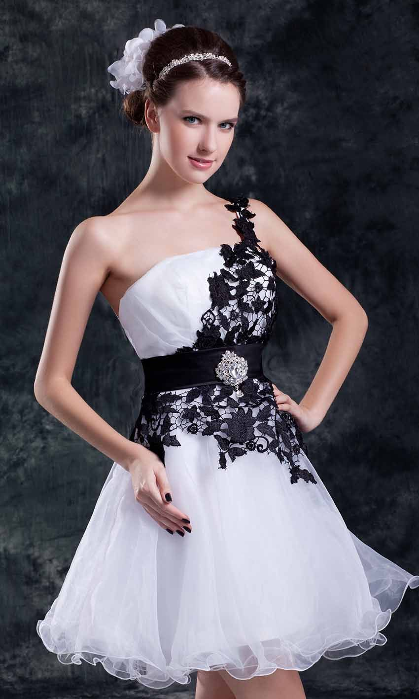 Short Black And White Dresses