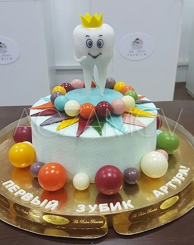 Детский торт на заказ «Первый зубик» - фото кондитера ...