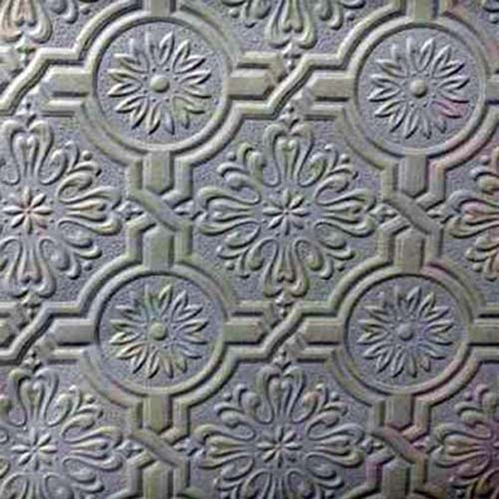 Paintable wallpaper embossed tile heavy textured 148 32817 for Embossed wallpaper