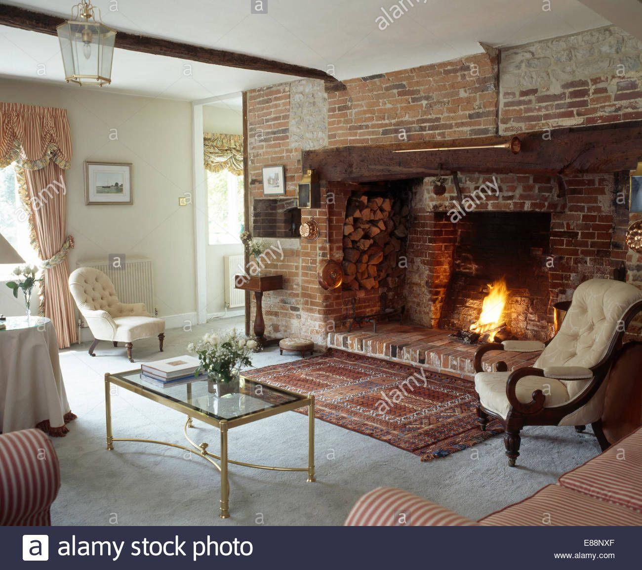 Classic Living Room With Inglenook Fireplace Inglenook Firep