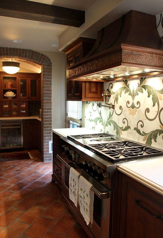Terra Cotta Tile Tuscan Kitchen Terracotta Tiles