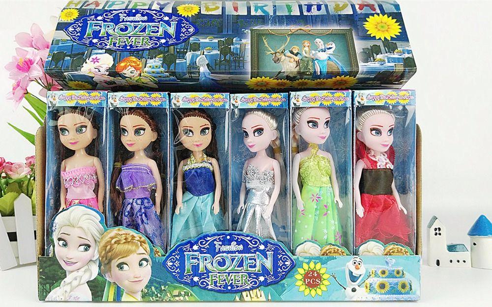 2016 الأميرة إلسا آنا دمى طفل الفتيات سندريلا أولاف أطفال اللعب الثلج الملكة إلسا الأميرة آنا إلسا دمى مصغرة دمية Elsa And Anna Dolls Elsa Doll Baby Girl Dolls