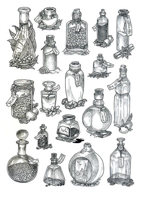 Perfume And Water Tattoo: Magic Potion Tattoo