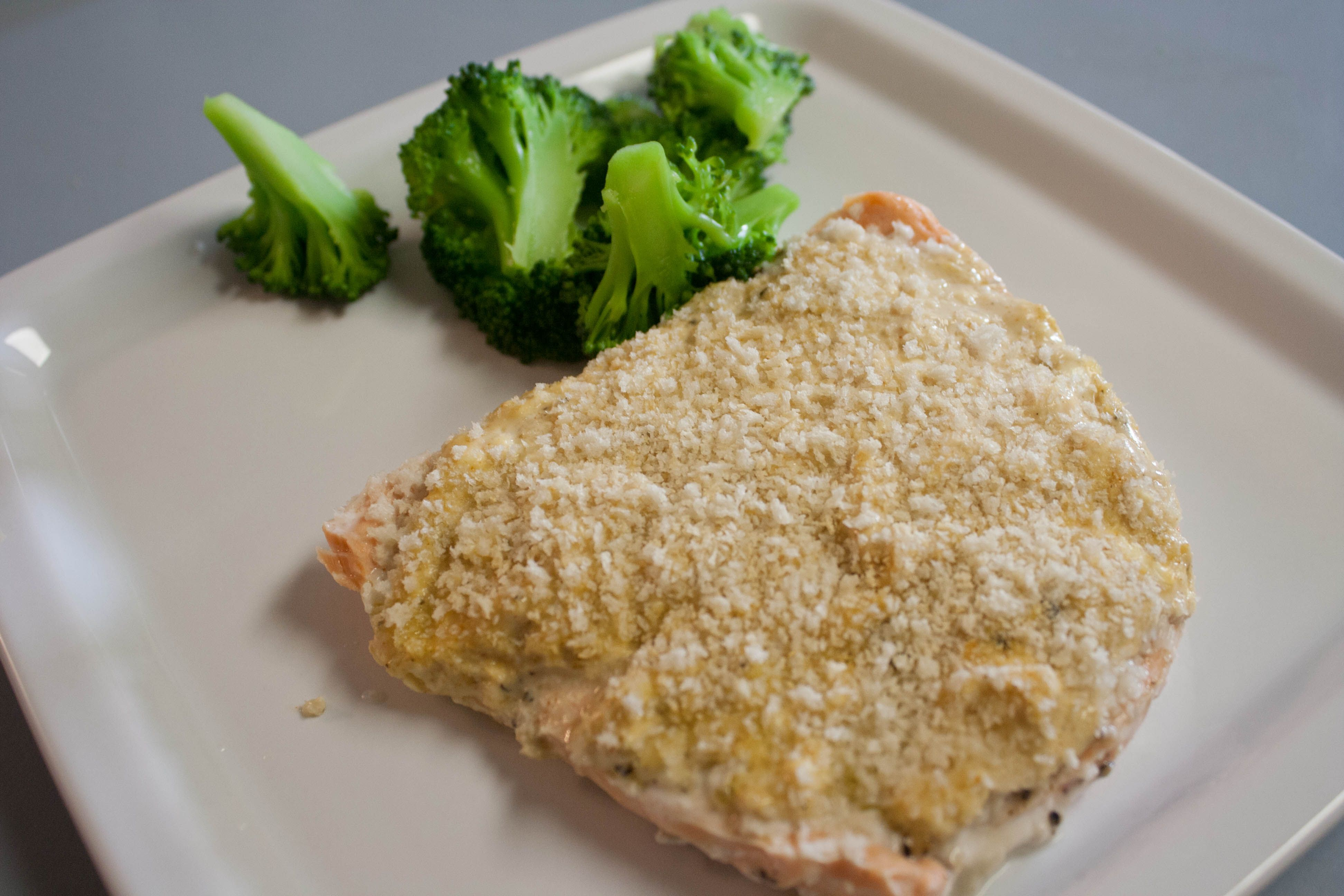 Delicious Feta-Crusted Salmon » 110 Pounds and Counting