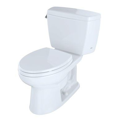 Toto Drake 1 6 Gpf Elongated Two Piece Toilet Seat Not Included Trip Lever Orientation Toto Toilet Toilet Seat One Piece Toilets