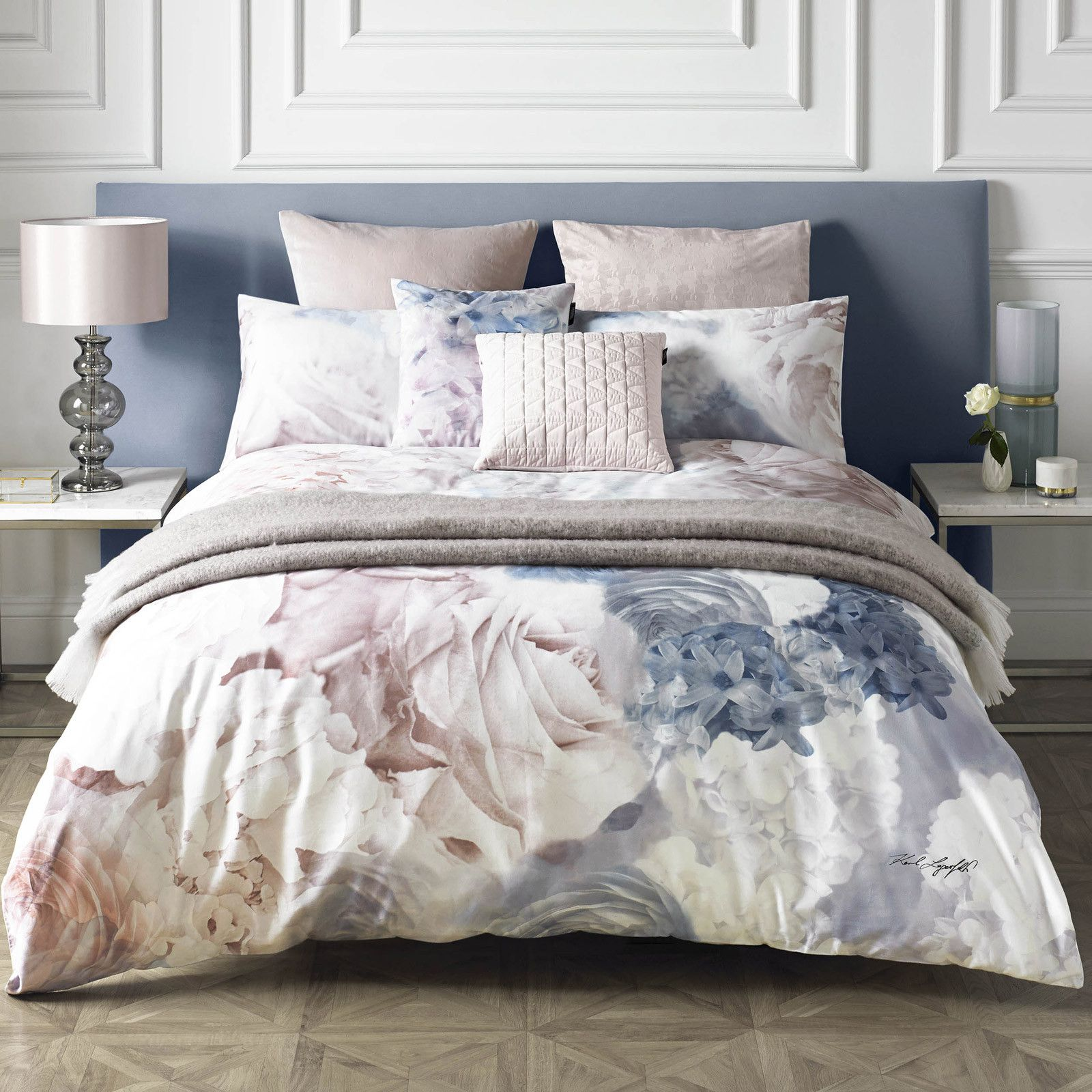 Cotton Quilt Covers King Size Karl Lagerfeld Flourish Bedding Collection Master Bedroom Refurb