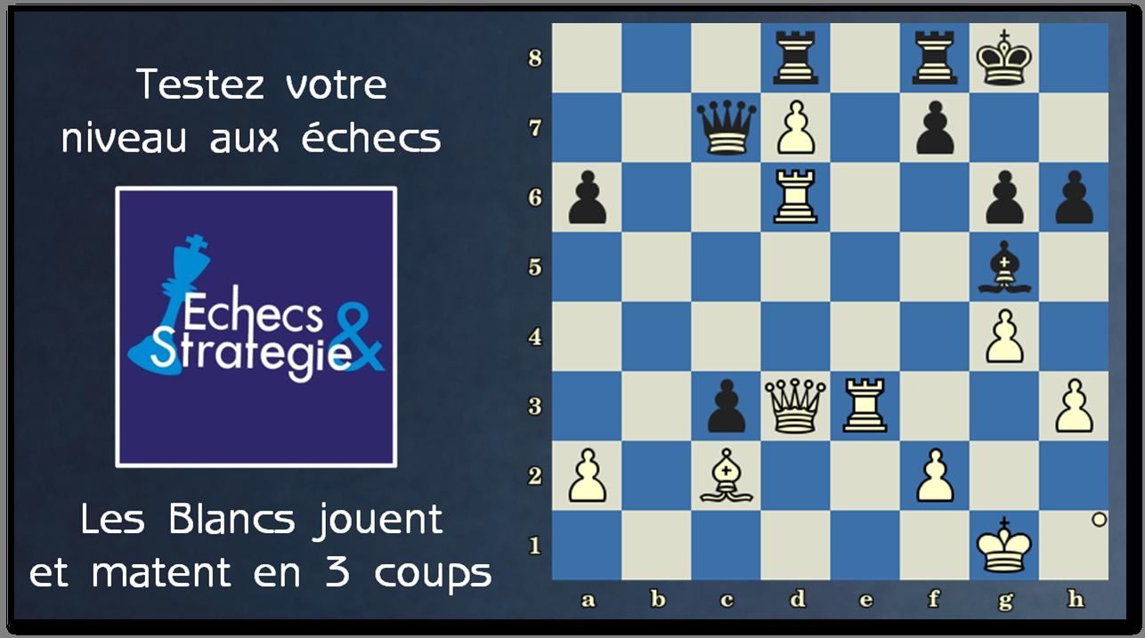 Testez votre niveau avec Échecs et Stratégie ▷ www.chess-and-