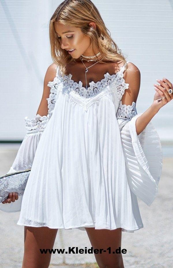 Damen Sommer Tunika mit Spitze (mit Bildern)   Sommer ...