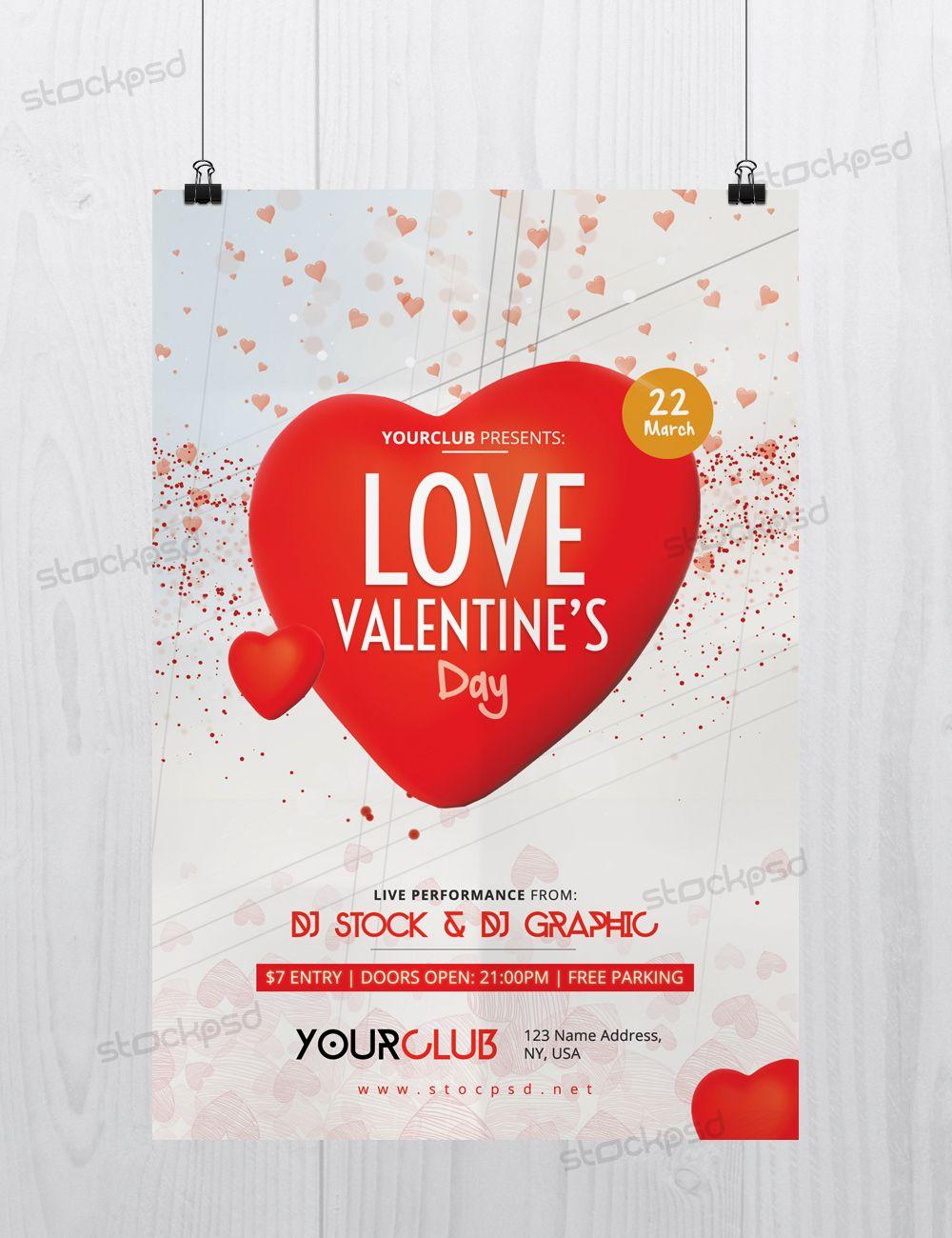 Valentine Flyer Psd Free Download