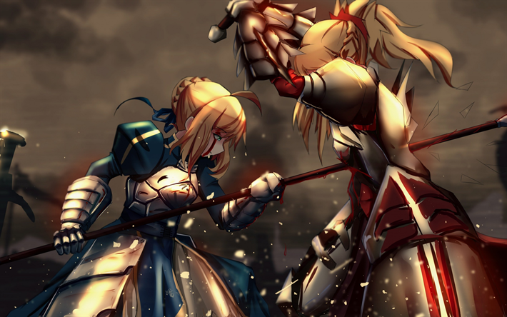 Download Wallpapers Fate Stay Night Japanese Visual Novel Anime Saber Series Type Moon
