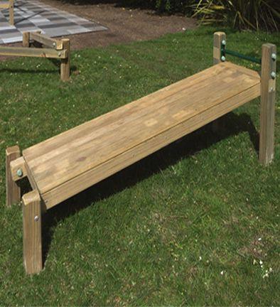 outdoor sit up bench  farmhouse bench diy backyard gym