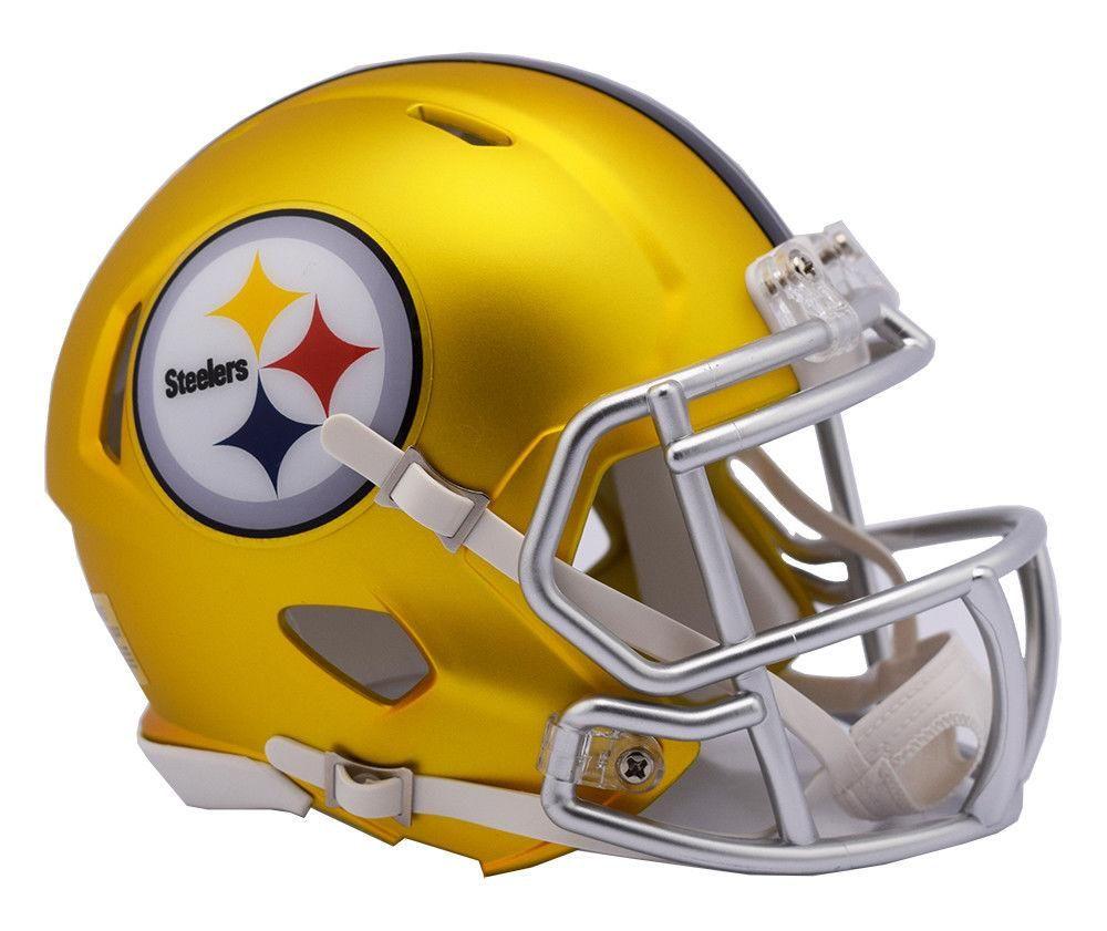 pretty nice e9d03 730a8 Pittsburgh steelers blaze revolution speed mini helmet ...