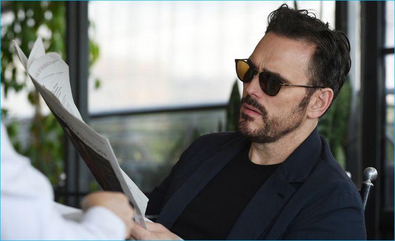 fb5da71019 Matt Dillon wears Persol Calligrapher Edition Sunglasses