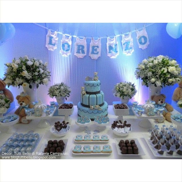 Teddy Bear Dessert Table With Images Baby Shower Dessert Table