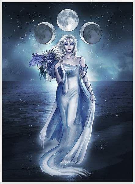 greek Luna goddess lane