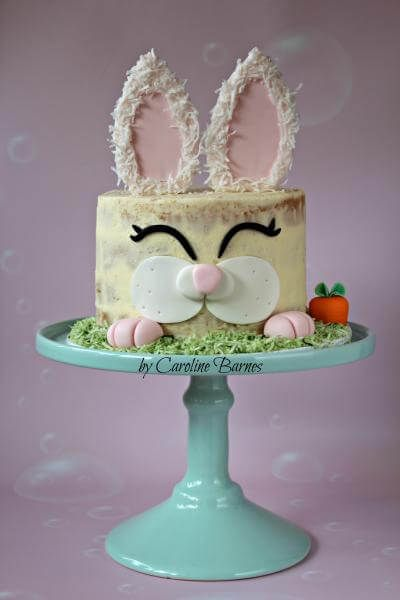 Easter Bunny Cake Tutorial Angel Foods Easter Cakes Cupcakes