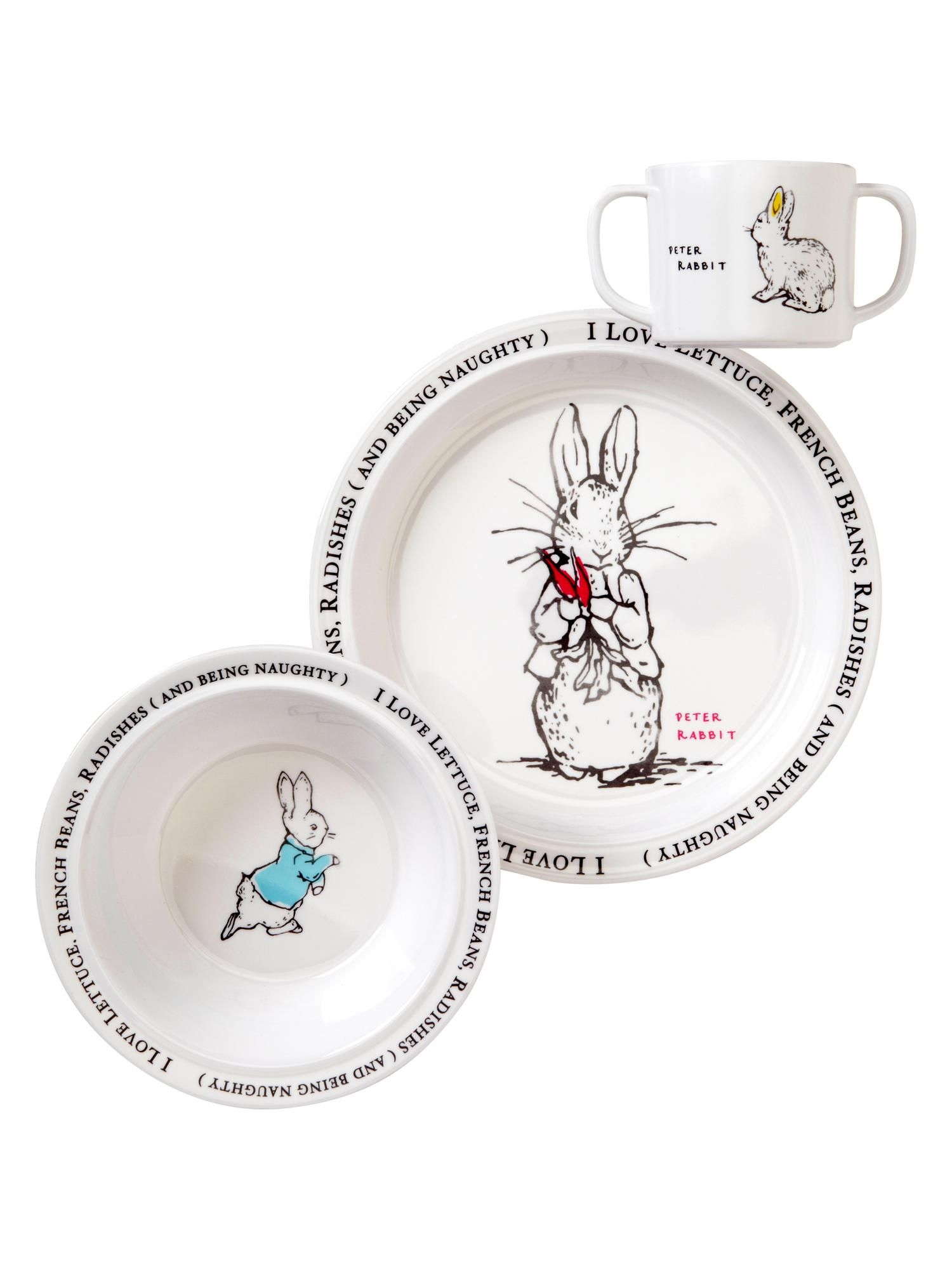Peter Rabbit melamine dish set from Baby Gap. This was originally $30 or something and  sc 1 st  Pinterest & Peter Rabbit melamine dish set from Baby Gap. This was originally ...