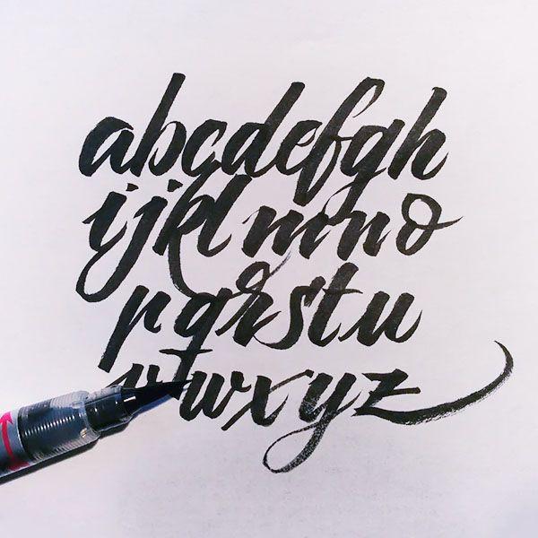 Lettering Abecedario Buscar Con Google Tipografia Y