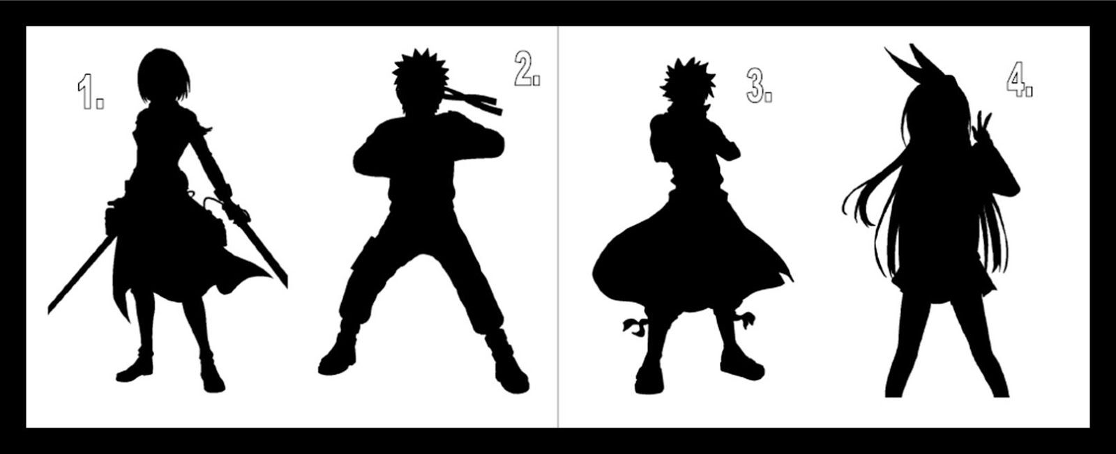 Anime Silhouettes Game