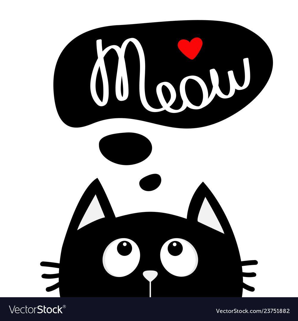 Cat Looking Up Clip Art