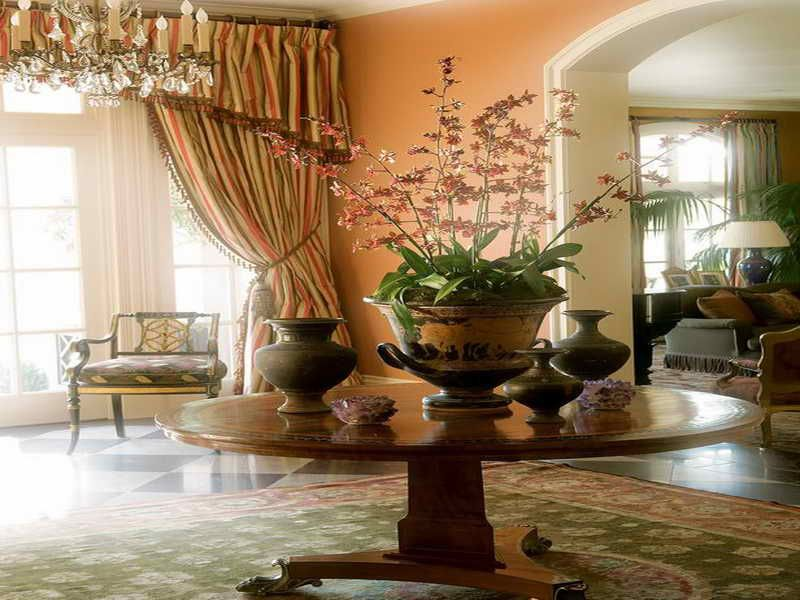 ** Round Foyer Table Decorated