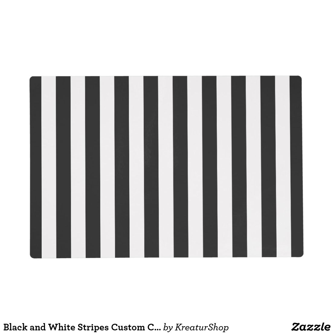 Black And White Stripes Custom Color Placemat Zazzle Com White Placemats Custom Placemats Black And White