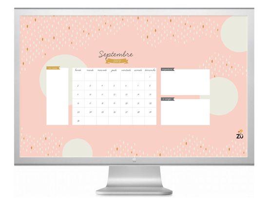 Hello September Free Printable And Wallpaper Calendar Art And