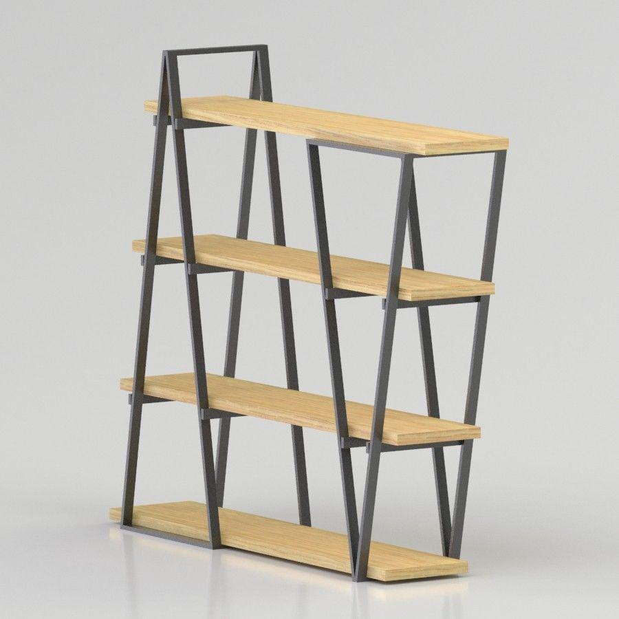 3Ds Simple Porn Model industrial wooden bookshelf 3d model files: max2012, 3ds
