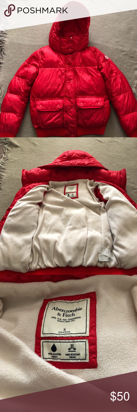 Abercrombie Fitch Puffer Jacket Red Puffer Jacket Women S Puffer Coats Red Puffer Coat [ 1740 x 580 Pixel ]