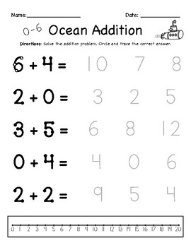 Addition Worksheets For Special Education With Touch Points Tpt Addition Worksheets Special Education Worksheets