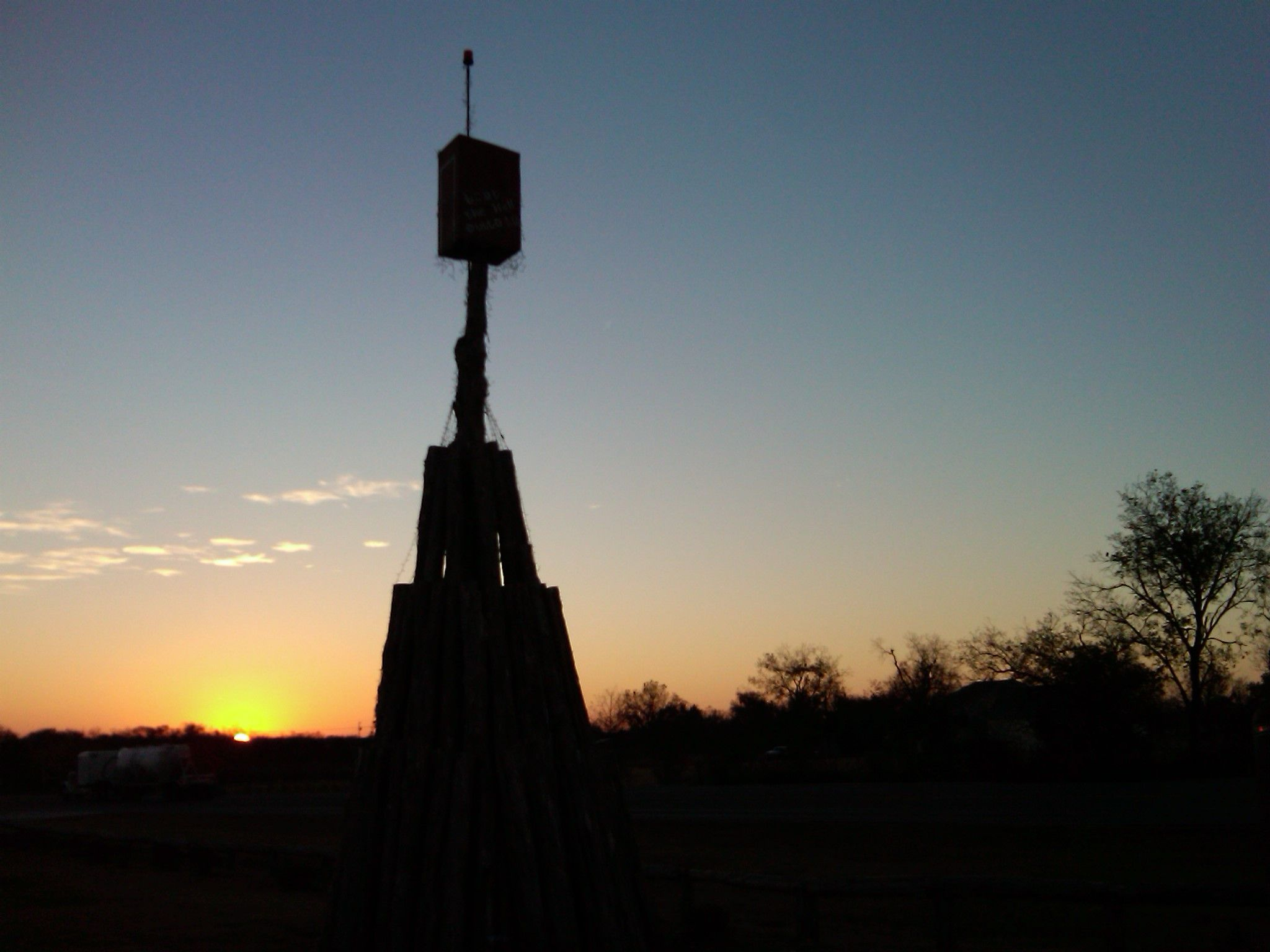 Sunrise at the Whoop Stop