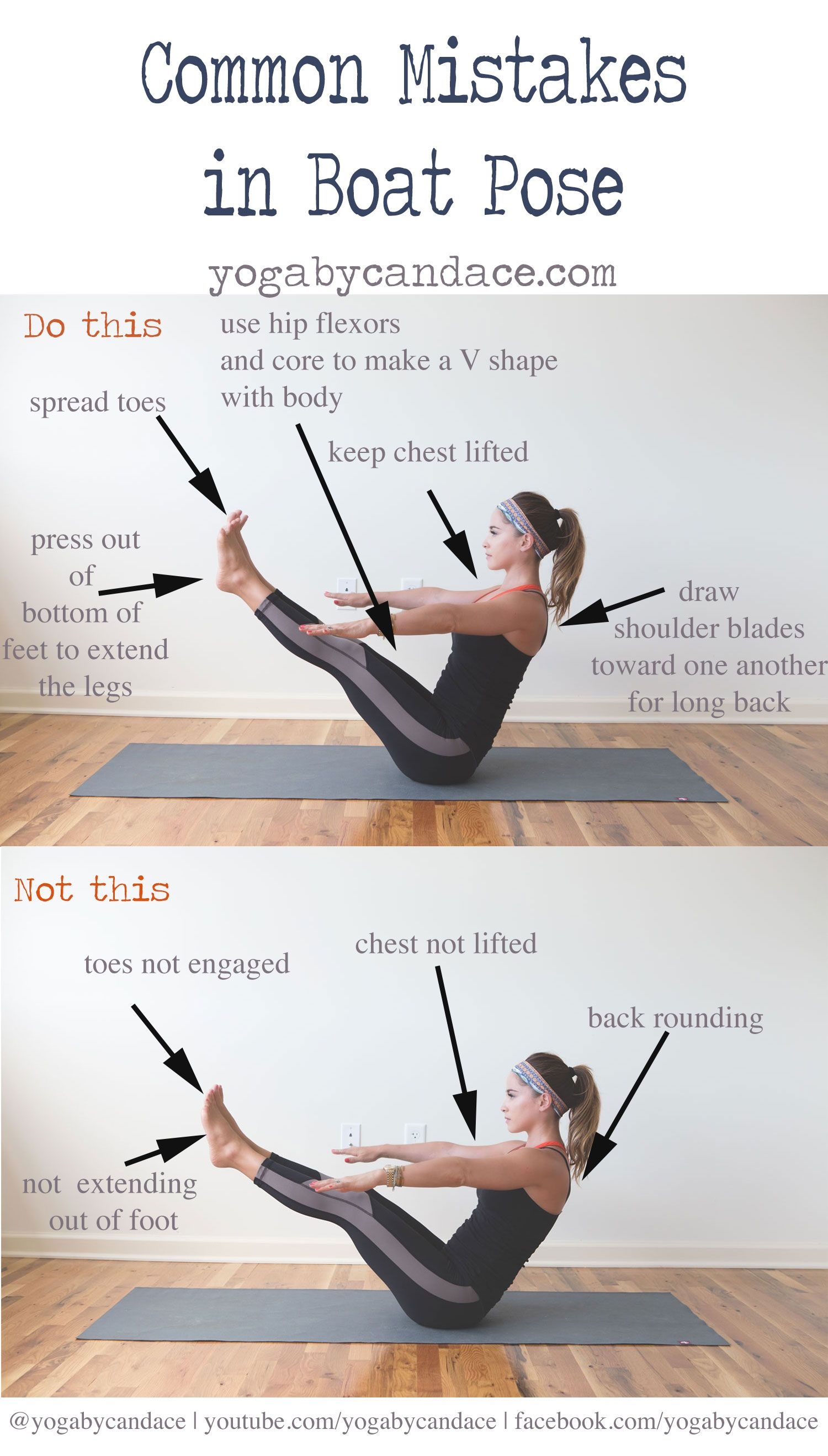 Common Mistakes in Boat Pose — YOGABYCANDACE