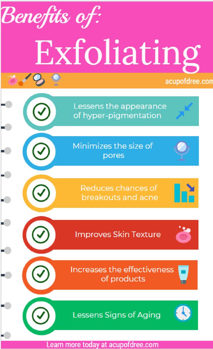 Benefits of Exfoliating your skin   #skincare #exfoliation #beauty #skintips