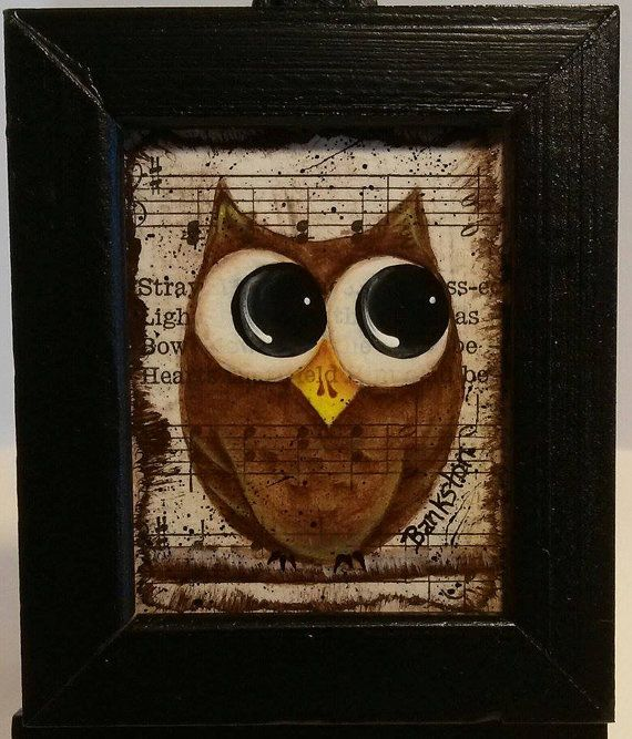 Owl Be On Mini Canvas In Wood Frame