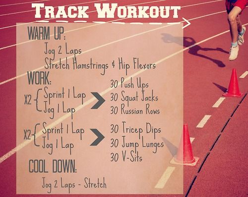 Track Workout | No Excuses | Track workout, Speed workout