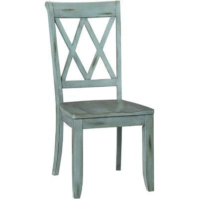 these blue chairs would look amazing with your dining room table and the green wall found it at wayfair tilio side chair
