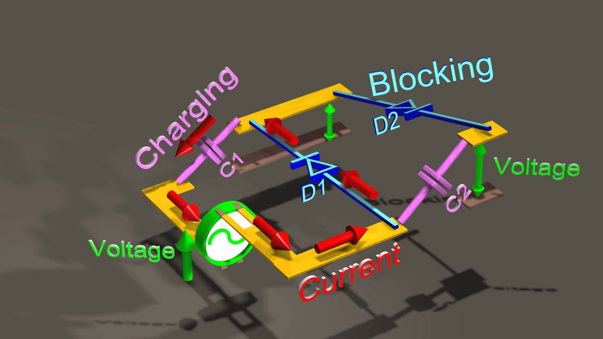 Easy To Understand 3d Animation Showing How High Voltage Ladders Create Extremely High Dc Voltages Using Just Diodes And C Generation Capacitor Diy Electronics