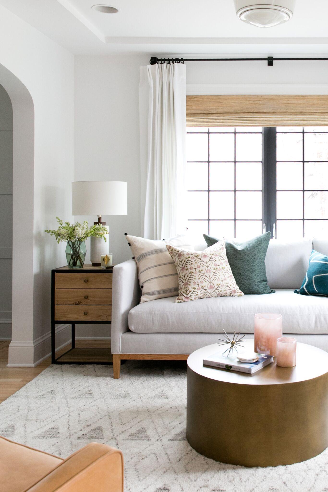 Bright, Eclectic Living Room of the Denver Tudor Project | Studio ...