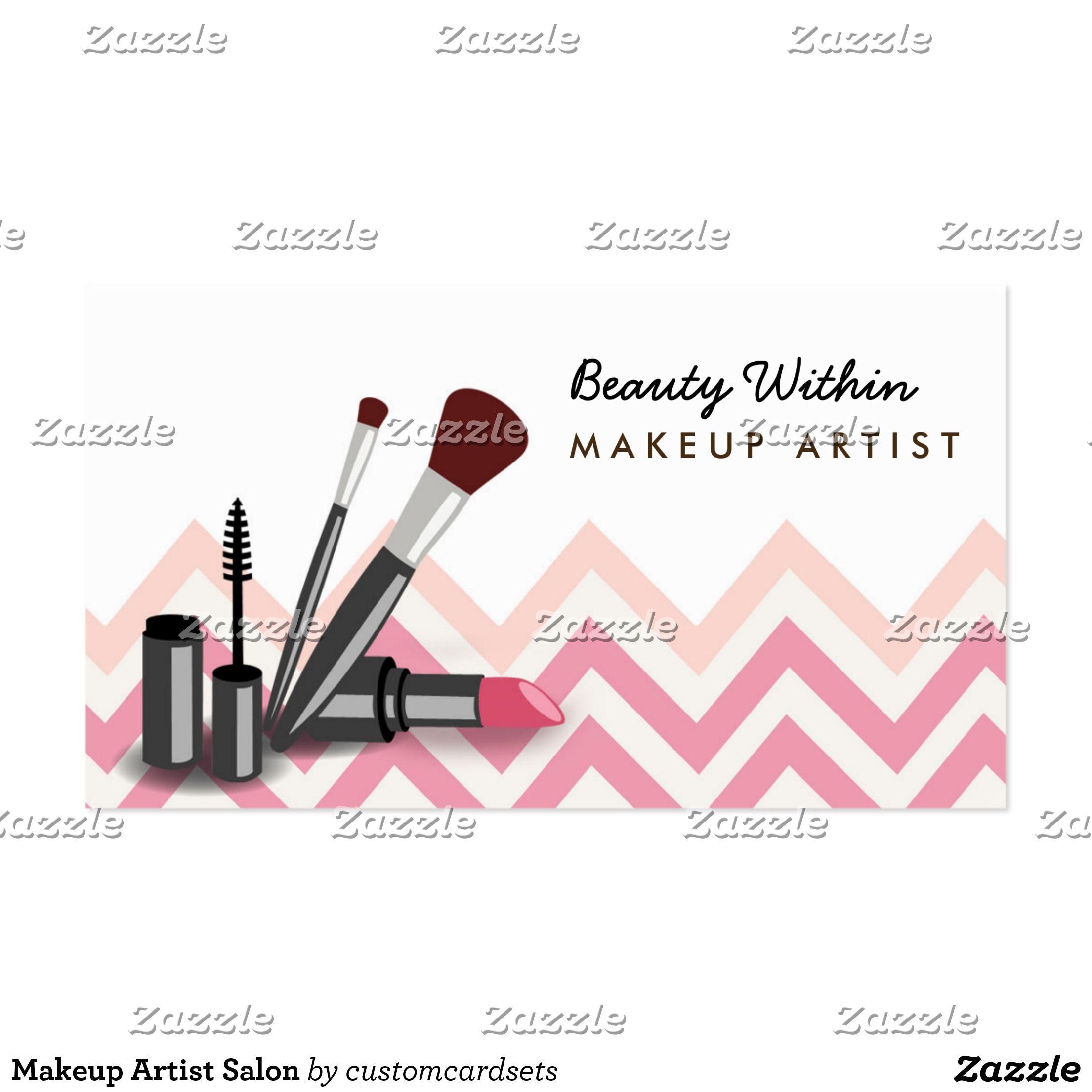 Makeup Artist Salon Business Card Zazzle Com Salon Business Cards Business Cards Printing Double Sided