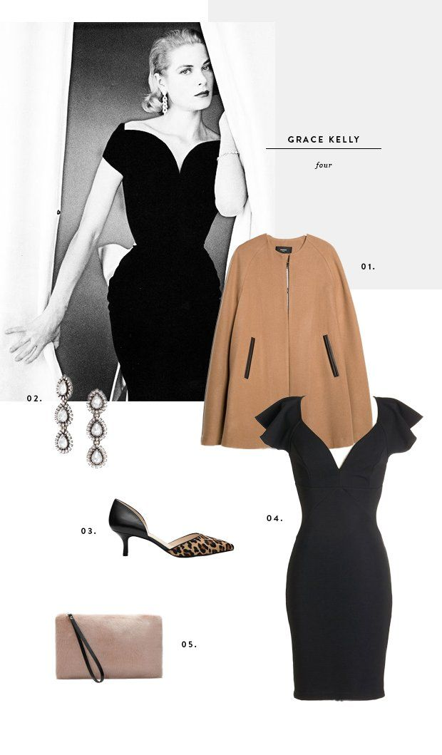 4 Party Looks Inspired By Grace Kelly S Timeless Style Grace Kelly Style Retro Vintage: grace fashion style chicago
