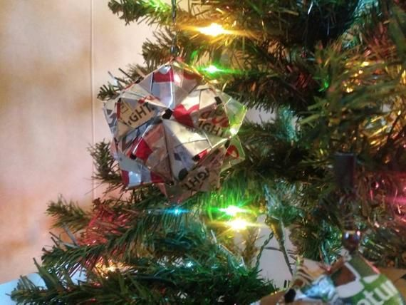 Photo of COORS LIGHT Origami Ornament // Weihnachten // Feiertage / Dekorationen / Upcycled Recycled Repurposed /