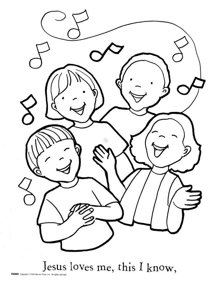 God Loves Me Coloring Pages - AZ Coloring Pages | bible activities ...