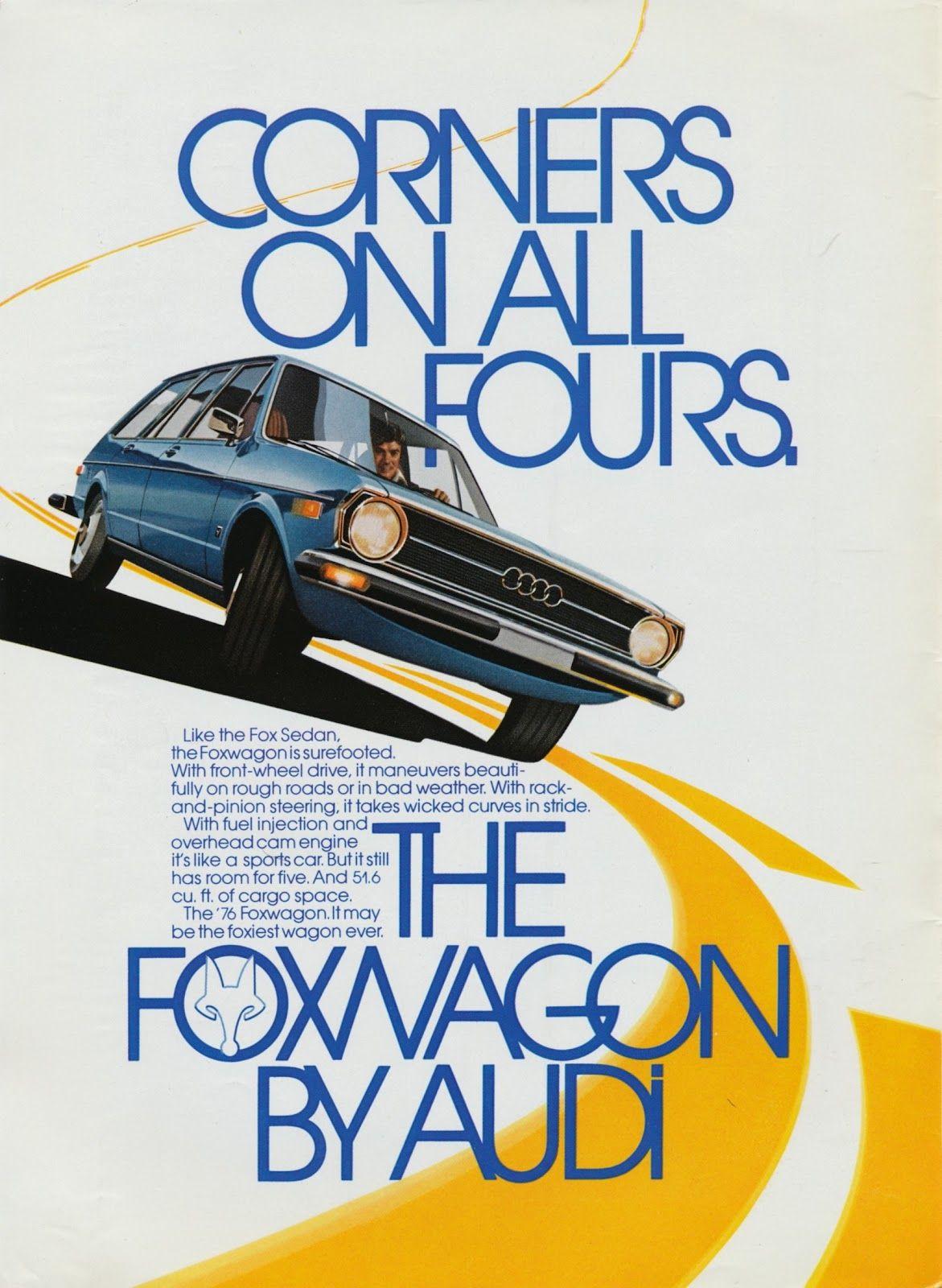 Audi Fox advertisements Car advertising design, Car ads