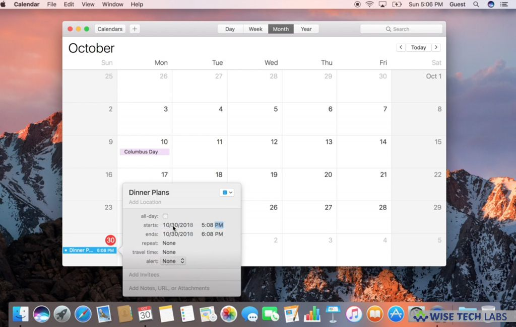 How To Set Event Alerts And Receive Notifications In Calendar On