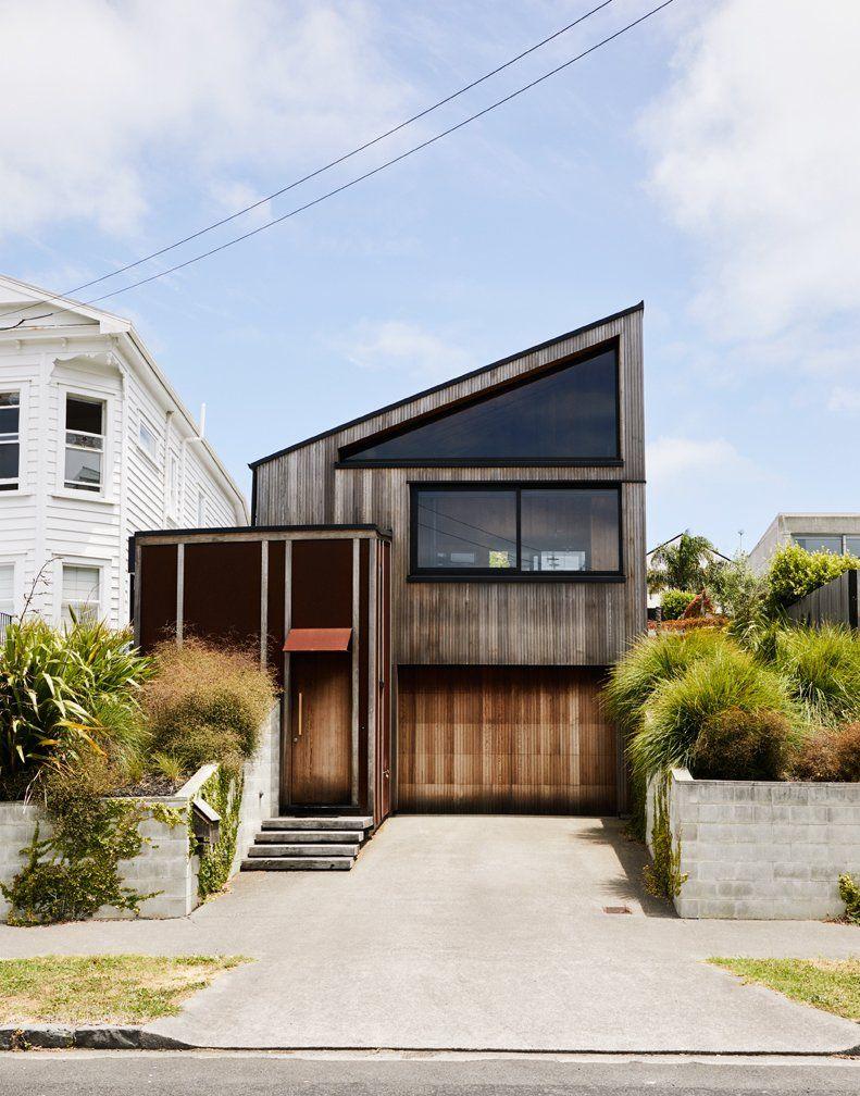 Charred cedar creates a multi tone home. Dwell Magazine