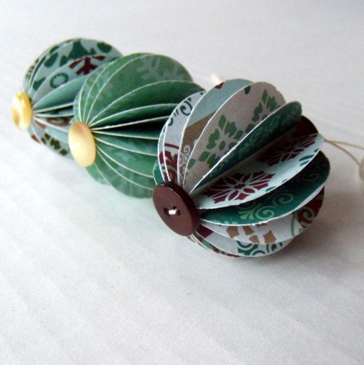Recycled Paper Christmas Paper Ornaments