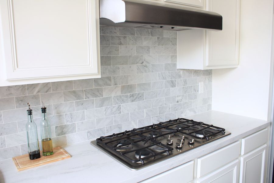 The Kitchen Backsplash Is Done Nicely Via Made By Girl